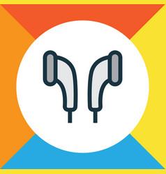 earmuff colorful outline symbol premium quality vector image