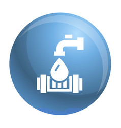 eco water tap icon simple style vector image