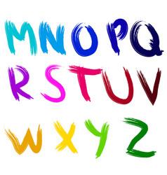 English alphabet brush vector