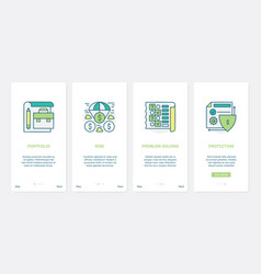 finance problem solving protection technology ux vector image