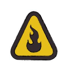 Flammable advert sign vector