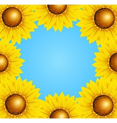 Floral frame with sunflowers vector image
