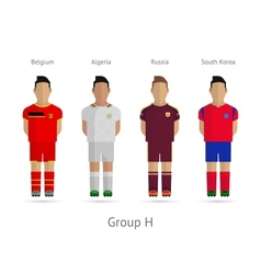 Football teams Group H - Belgium Algeria Russia vector image