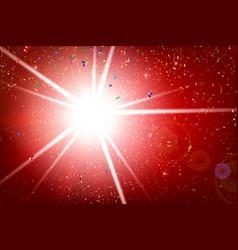 fractal rainbow ribbon explode and falling vector image