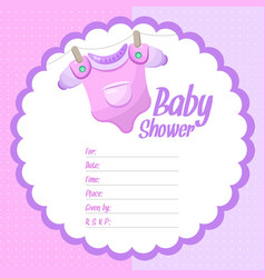 girl baby shower background vector image