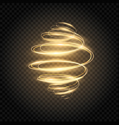Glowing spiral golden light swirl bright speed vector