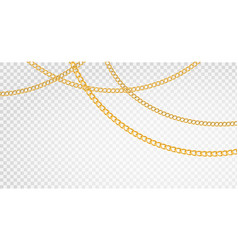 golden chain luxury chains different shapes vector image