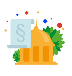 government building paragraph of the law vector image