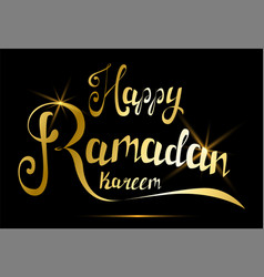 happy ramadan kareem greeting card handmade vector image