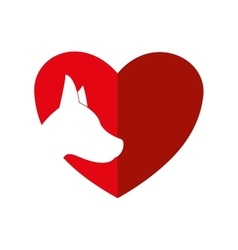 Heart dog love pet animal icon graphic vector