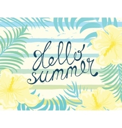 Hello summer card vector image