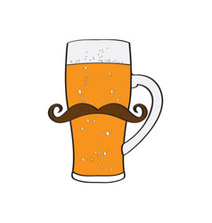 Hipster beer icon vector