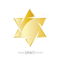 jewelery golden star on white background vector image