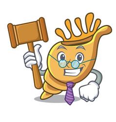 Judge exotic shell mascot cartoon vector