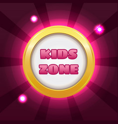 kids zone banner vector image