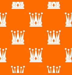 kingly crown pattern seamless vector image vector image