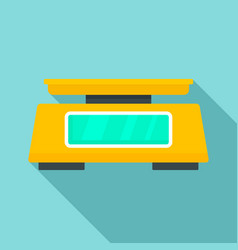 Lab scales icon flat style vector