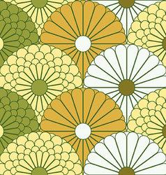 Large Chrysanthemum Pattern vector image