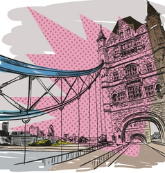 London bridge drawing vector image