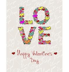 Love made hearts vector