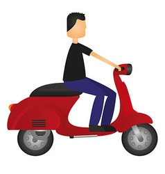 Man on motorbike vector
