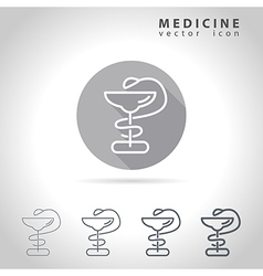 Medicine outline icon vector image