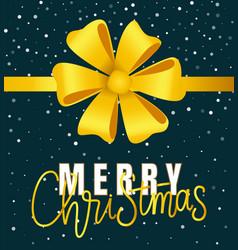 Merry christmas greeting card xmas congratulation vector
