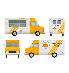 mobile restaurant identity business tools of vector image