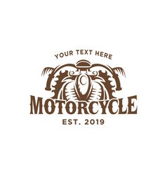 motorcycle vintage logo design template vector image