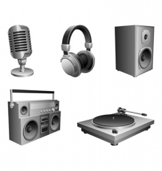 music equipment vector image