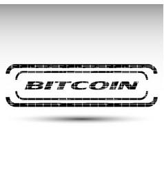 Of bitcoin emblem vector