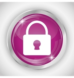 Padlock button icon Social media design vector
