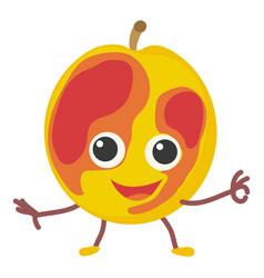 peach icon cartoon style vector image