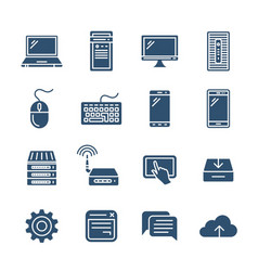 personal computing devices vector image