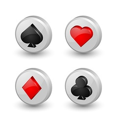 Playing card symbol icons vector image