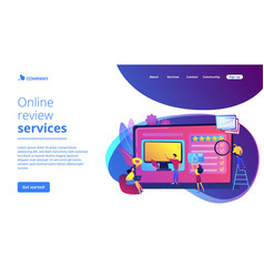 Product review concept landing page vector