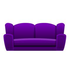 purple sofa icon cartoon style vector image