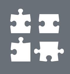 puzzle pieces parts puzzles graphic template vector image