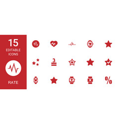 Rate icons vector
