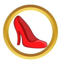 Red women shoes icon vector image