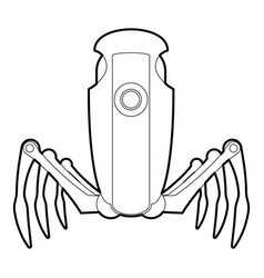 Robot spider icon outline vector