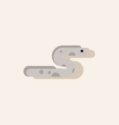 Sea snake in sticker style vector