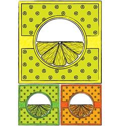 Set of drawn citrus labels vector image vector image