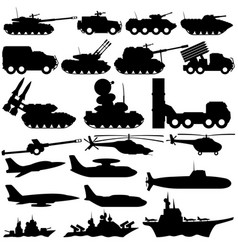 set of military transport vector image