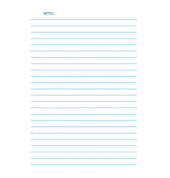 sheet of lined letter size paper for notes vector image