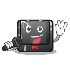 singing d button installed in game character vector image