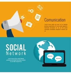 social media network globe isolated vector image vector image