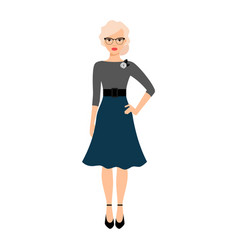 teacher with glasses icon vector image