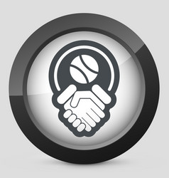 Tennis fairplay icon vector