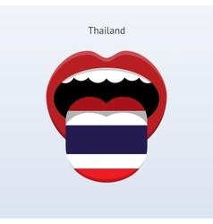 Thailand language Abstract human tongue vector